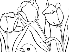 Easter Egg Tree Coloring Page