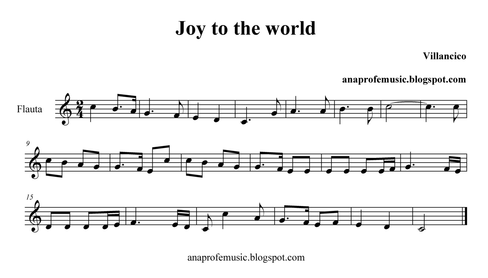 Anaprofemusic partitura joy to the world sheet music