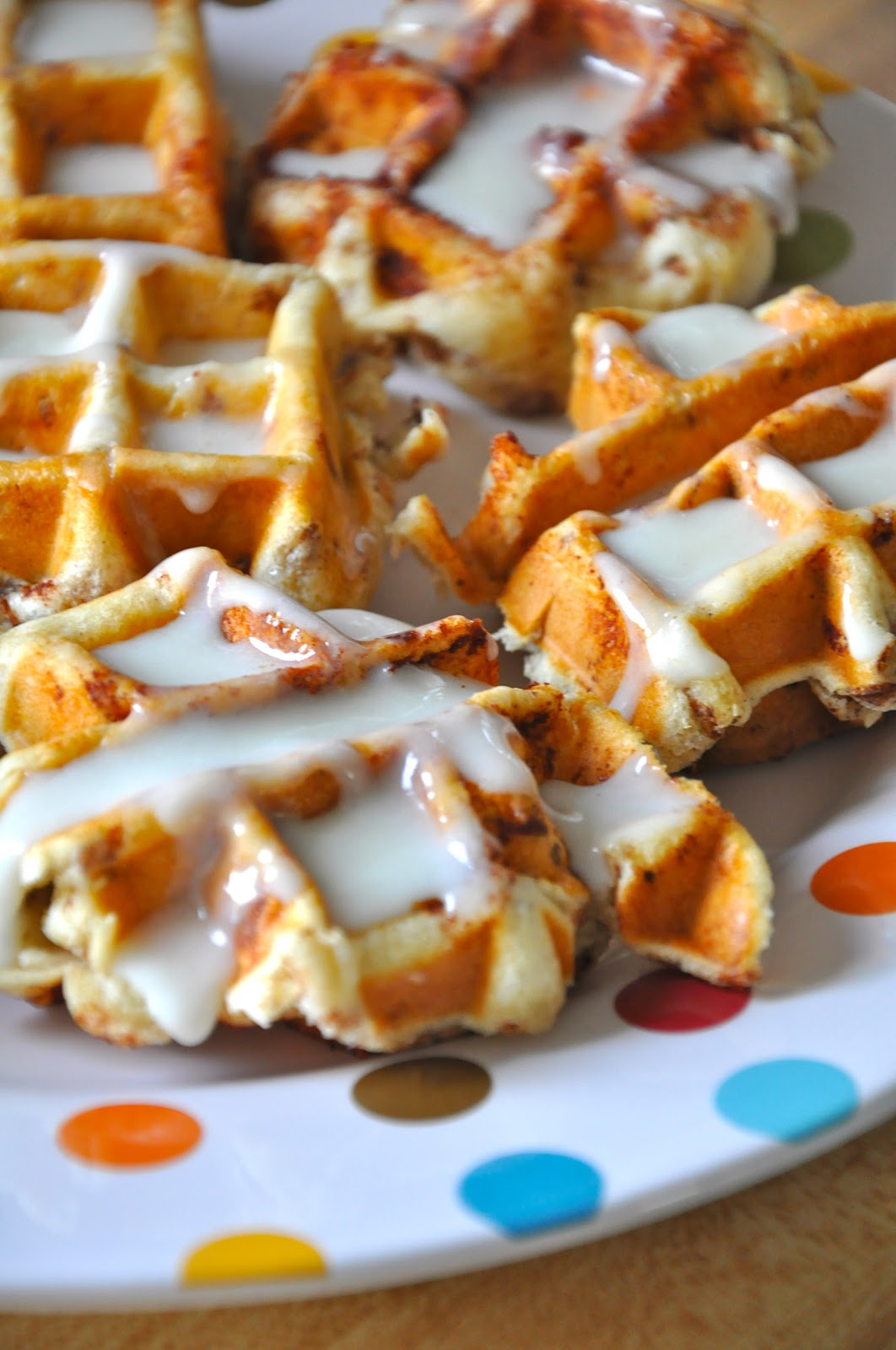 Little Bit Funky: cinnamon rolls in a waffle iron! who knew!!