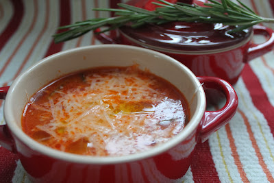 Fregola soup with rosemary