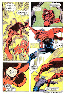Daredevil v1 #50 marvel 1960s silver age comic book page art by Barry Windsor Smith