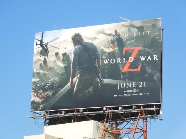 World War Z movie billboard
