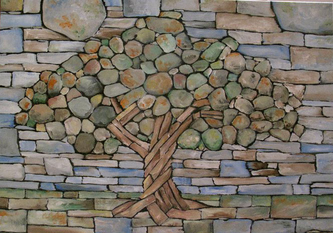 Stone art blog true love is set in stone for Stone wall art