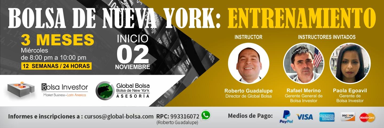 Curso: ¨BOLSA DE NUEVA YORK: ENTRENAMIENTO Y ASESORÍA¨ 05 OCT 16