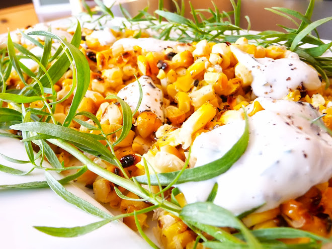 Grilled Corn with Tarragon Cream