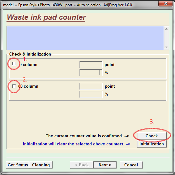 waste ink pad counter