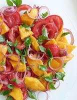 Salada de Manga e Tomate (vegana)
