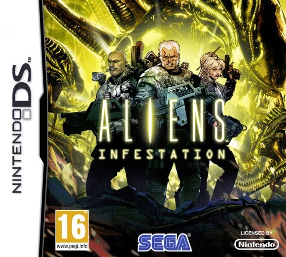 Aliens Infestation game nds rom cover