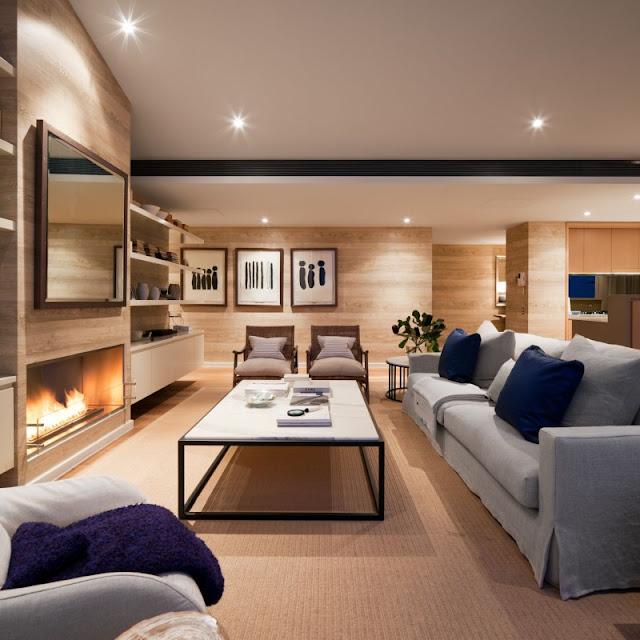 Photo of beautiful living room interiors