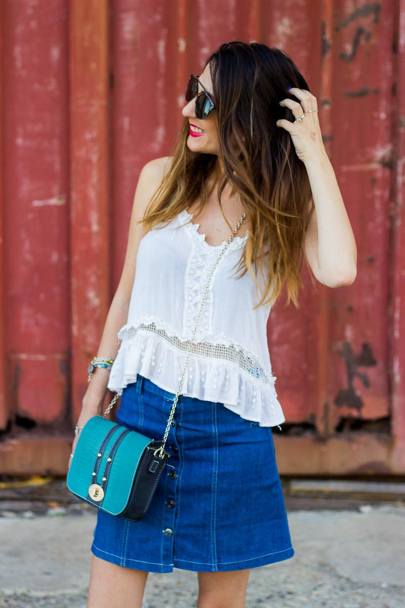 falda estilo 70