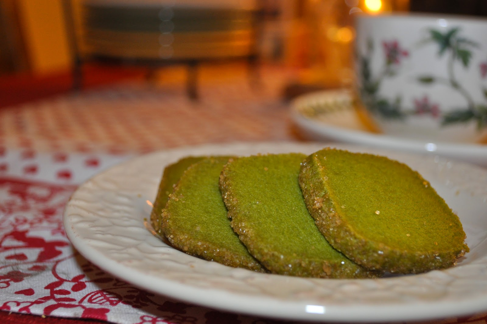 A Handmade Life: Matcha Green Tea Shortbread Cookies