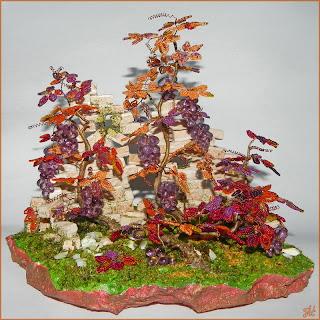 Бисерная композиция виноград на развалинах. Мастер-класс
