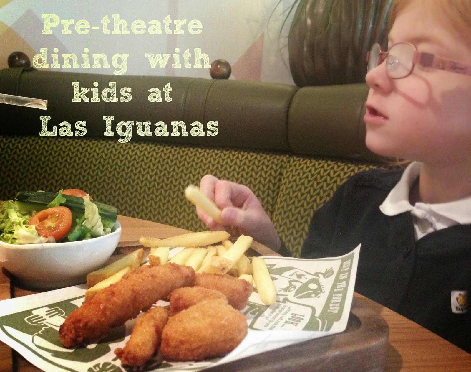Children's menu Las Iguanas Newcastle