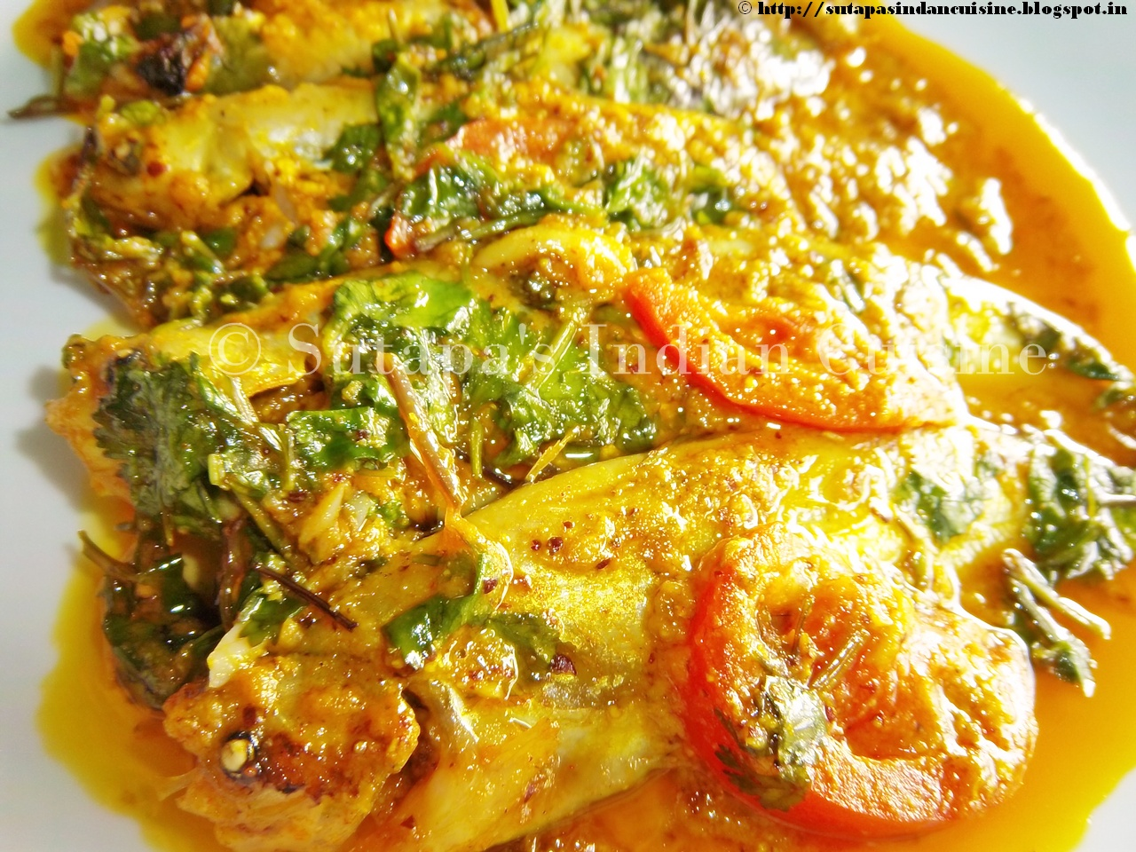 Salmon In A Bengali Mustard Sauce Recipe — Dishmaps
