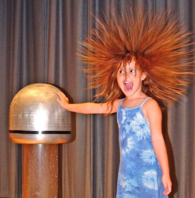 Van De Graaff Generator Hair
