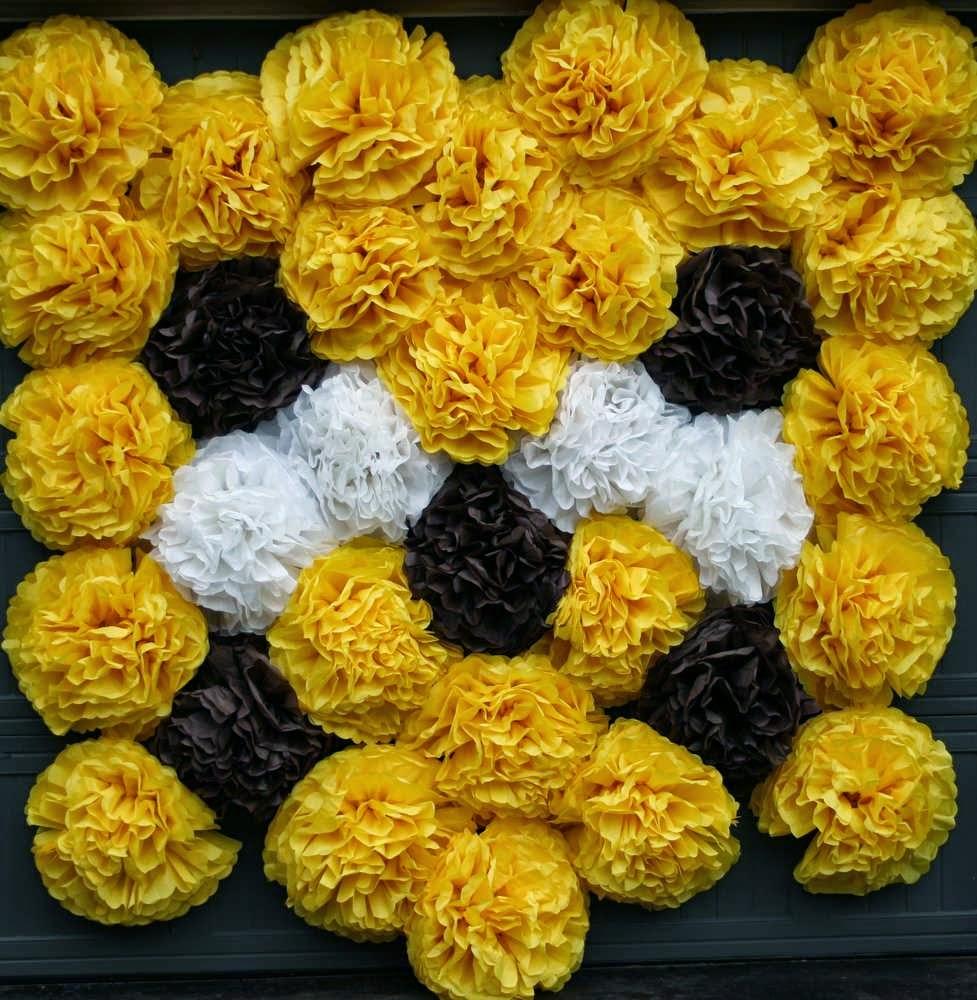 decoração de festa flores papel bh