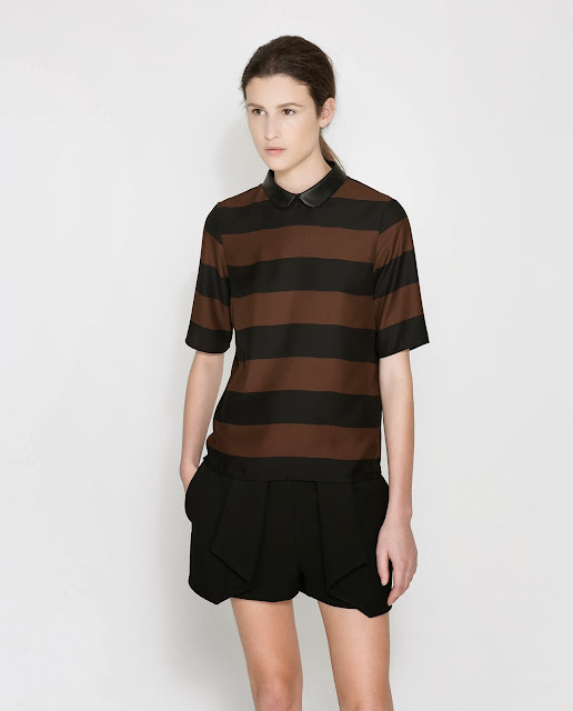 brown and black stripe top