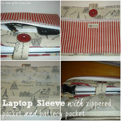fujitsusleeve National Sewing Month 2012: Reversible Laptop Sleeve Tutorial