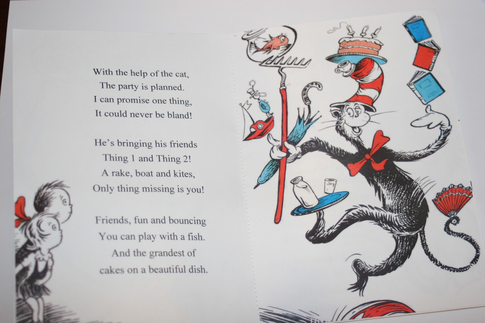 Greene Acres Hobby Farm: Dr. Seuss Cat in the Hat Birthday Party