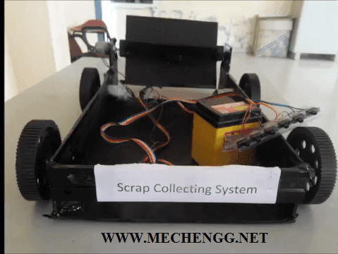 AUTOMATIC SCRAP COLLECTING VEHICLE PROJECT