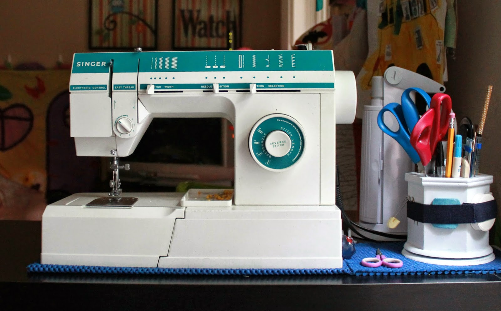 A View from The Peanut Gallery: Sewing Space & Singer 5817c | The Inspired Wren