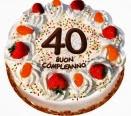 foto torta quarant'anni