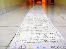 A carta mais longa escrita