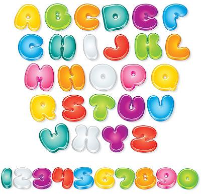 Letras del Abecedario en Colores Brillantes