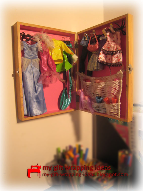 How To Make A Barbie Closet