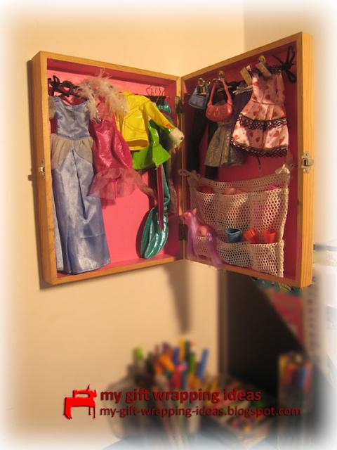 How To Make A Barbie Closet