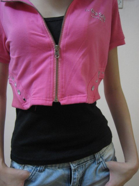 Garde robe preloved pink cropped jacket for Garderobe jacke