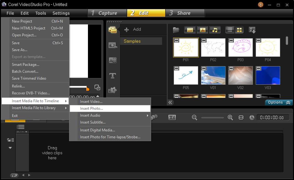 Cara Memulai Membuat Project Corel Video Studio 3