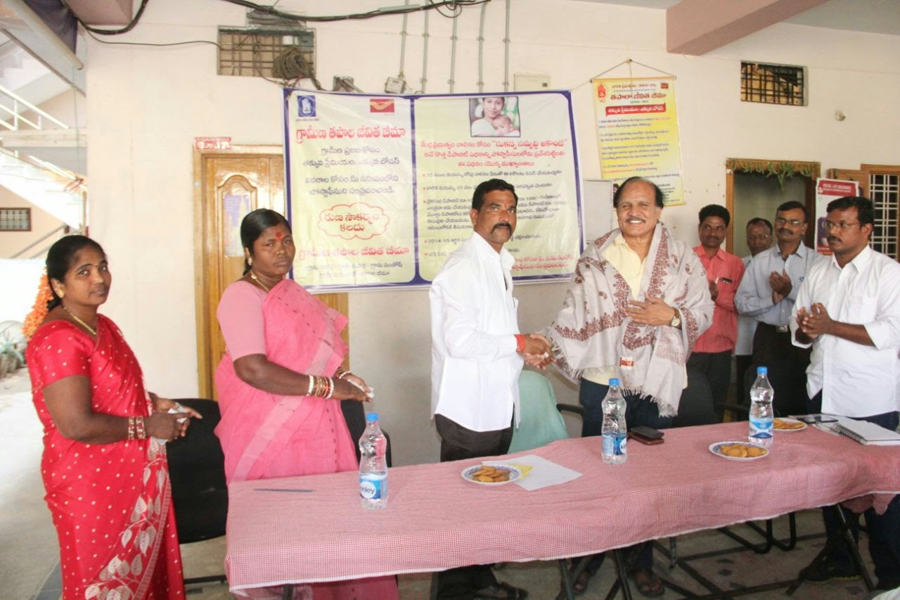 Felicitation of CPMG by Sarpanch , MPP of Kokapet village