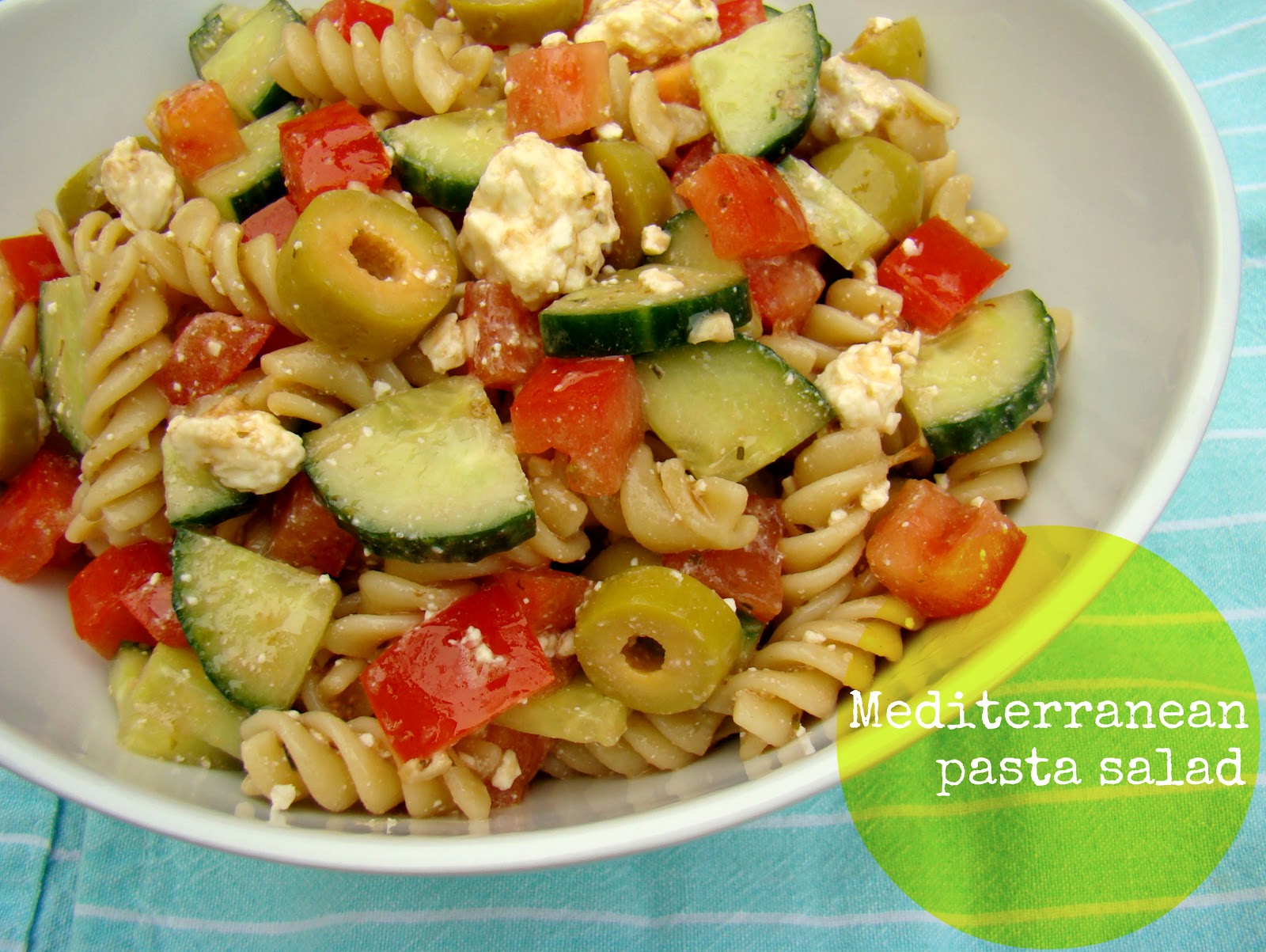 mediterranean pasta salad mediterranean pasta salad table this chilled ...
