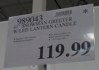 Deal for a 41 inch Snowman Greeter with LED Candle at Costco
