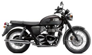 2012 Triumph Bonneville T100 colors - Graphite and Phantom Black