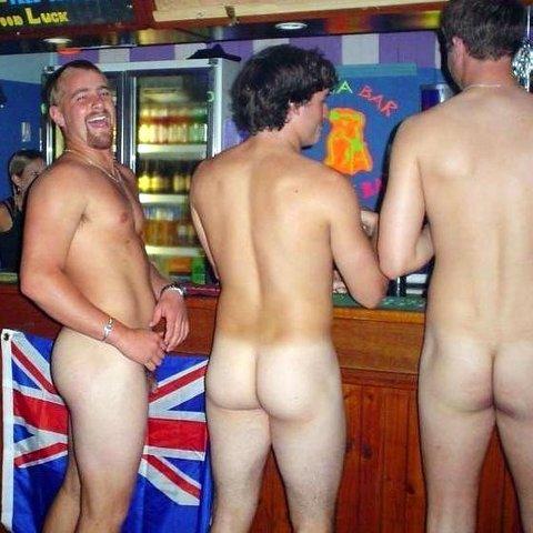 It's naked men get free drinks