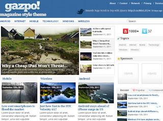 gazpoMag: Magazine Style WordPress Theme