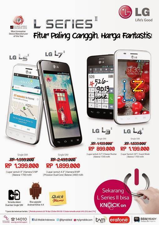Promo Android Murah Single SIM LG