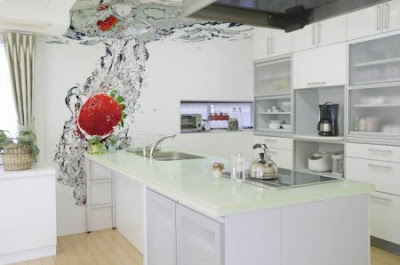 papel decorativo cocina