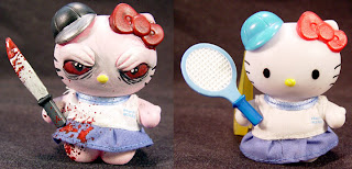 Hello Kitty creepy gory zombie model