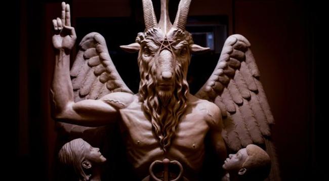 escultura del diablo