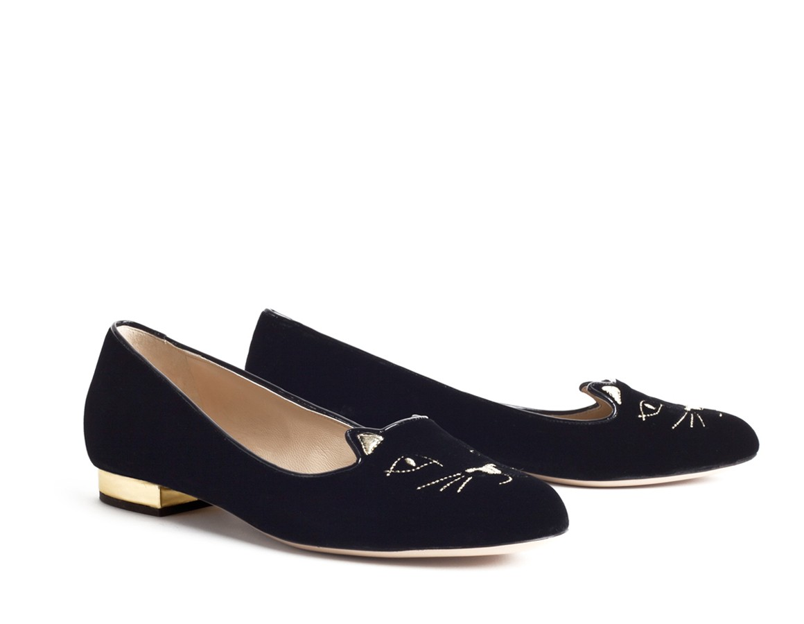 inexpensive luxury charlotte olympia kitty flats. Black Bedroom Furniture Sets. Home Design Ideas