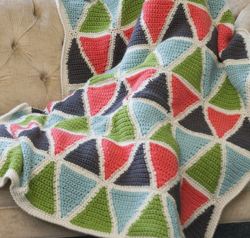 Colorful Triangle Throw - Free Pattern