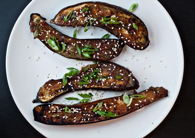 Ginger-Miso Glazed Eggplant