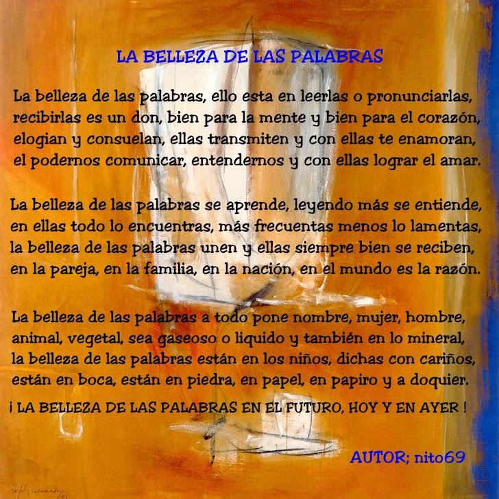 LA BELLEZA DE LAS PALABRAS