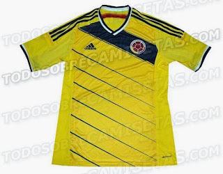 Le maillot de la Colombie de la Coupe du monde 2014