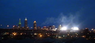 Cleveland Skyline on Morning of Indians Opening Day