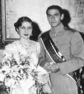 Mohammad Reza Pahlavi et Fawzia d'Egypte