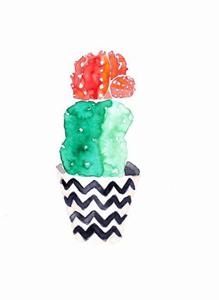 Cactus l minas descargables alquimia deco for Laminas para pared